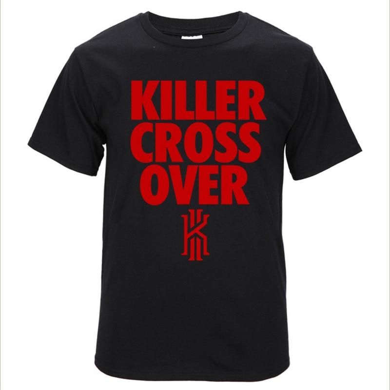 גופיות כדורסל צלב רוצח מעל Kyrie אירווינג כדורסל לנשימה כותנה שרוול קצר ספורט חולצות T