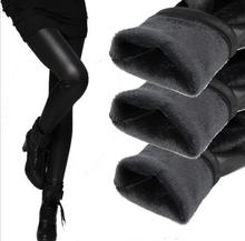 new 2014 thickening black leather boots leggings skinny pants winter warm women's trousers winter pants for women high quality