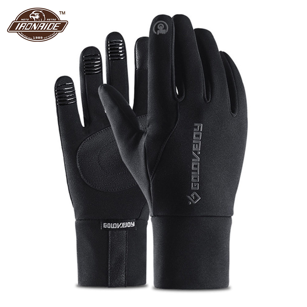 Fleece Lined Motorcycle Gloves Waterproof Guantes Moto Touch Screen Warm Winter Glove Windproof Gloves Motorcycle Black GreyFleece Lined Motorcycle Gloves Waterproof Guantes Moto Touch Screen Warm Winter Glove Windproof Gloves Motorcycle Black Grey
