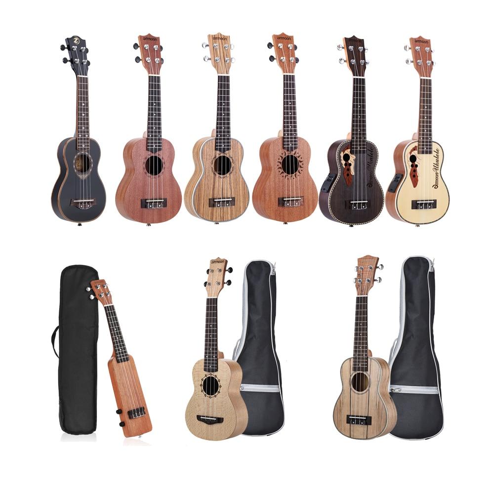 ammoon Ukulele 21″ Acoustic Ukulele 15 Fret 4 Strings ...