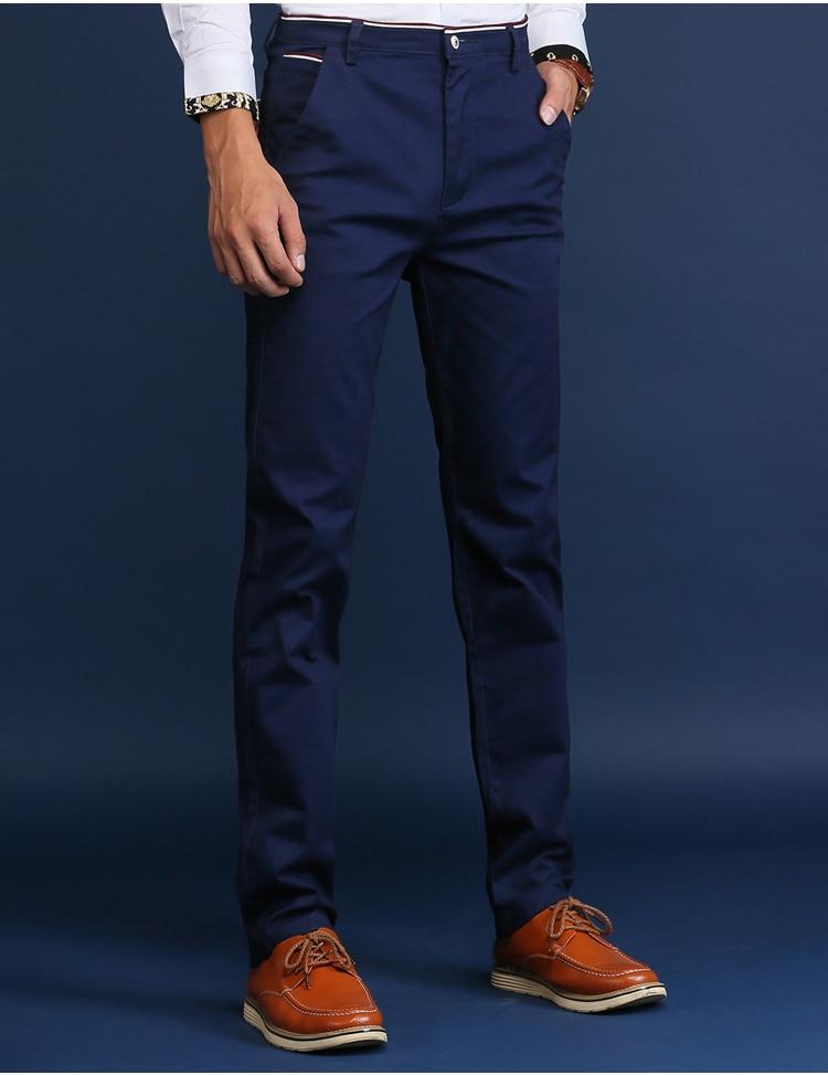 HCXY 2019 Men Pants Cotton warm Straight Trousers autumn and winter Men's Plus velvet Casual Pants Plus size 28-38