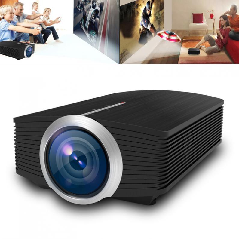 Universel YG500 HD Portable Mini LED projecteur de poche pour la maison et le divertissement soutien 120 pouces grand écran de Projection