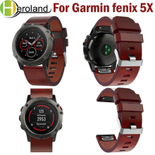 26mm Easy Fit Watch Strap For Garmin Fenix 5X/5X Plus Quick Release Strap Leather Watchband for Garmin Fenix 5X Wrist Band Sport susenstone 2018 watch strap silicone quick release kit band strap for garmin fenix 5x fashion colorful sports watchband hot sale