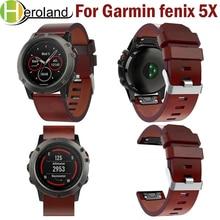 26mm Easy Fit Watch Strap For Garmin Fenix 5X/5X Plus Quick Release Strap Leather Watchband for Garmin Fenix 5X Wrist Band Sport цена и фото