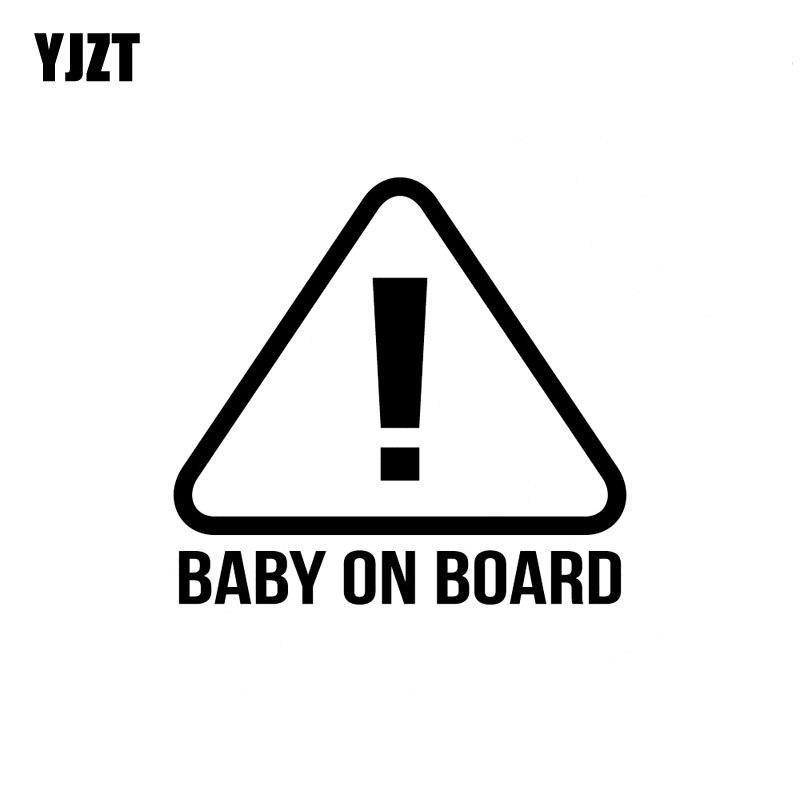 Yjzt 17.8 см * 16.6 см ребенок на борту знак наклейки Наклейки винил черный/Серебряный C10-00095