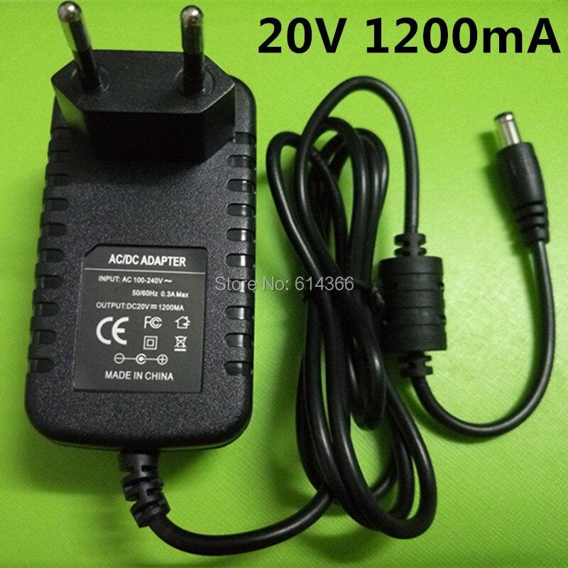 1 PCS Nouveau 20v1. 2a alimentation à découpage LED lampe alimentation 20 v alimentation 20 v 1.2A 1200mA adaptateur UE plug