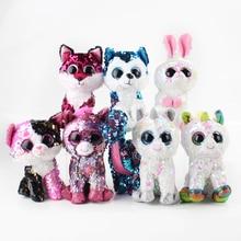 8 стилей 17 см Плюшевые игрушки Единорог Пингвин Кот Леопард лиса собака кролик с большими глазами мягкий чучело куклы подарок для ребенка