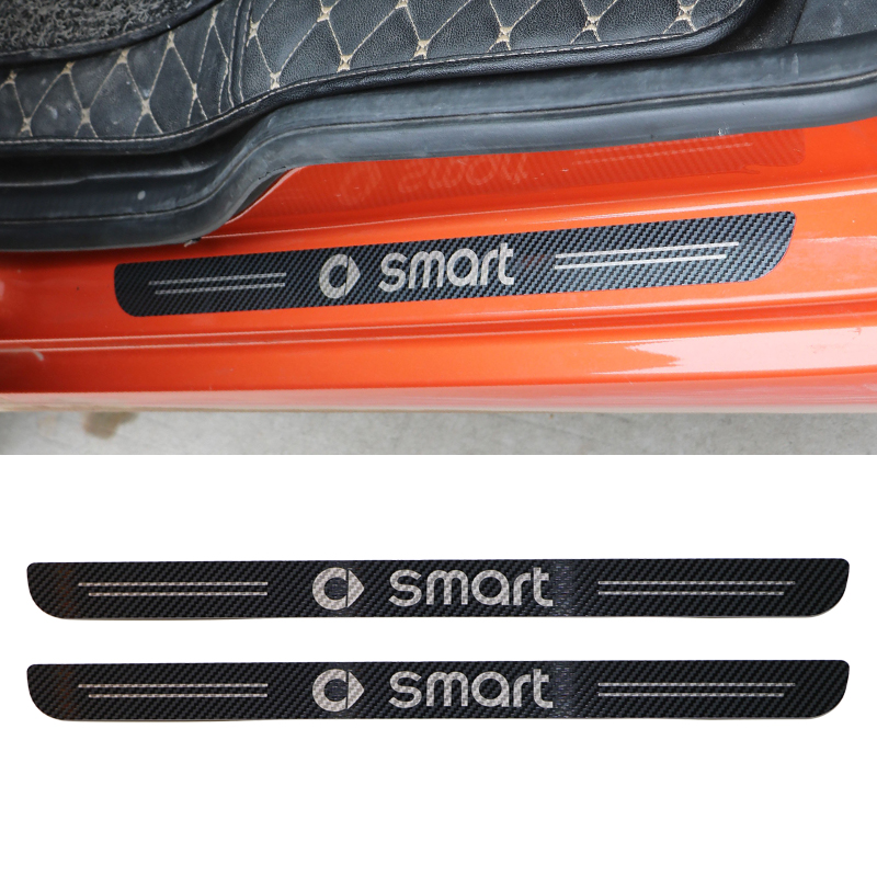 2pieces Stainless steel door pedal trim For <font><b>Smart</b></font> <font><b>Fortwo</b></font> 453 <font><b>451</b></font> decorative protection car stickers car modification <font><b>accessories</b></font> image