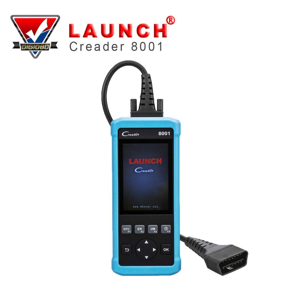 imágenes para OBD2 Escáner Lanzamiento CReader 8001 Lector de Código de Coche Completo OBDII/EOBD Escáner Herramienta de Diagnóstico Auto con ABS/SRS/EPB/Servicio de Aceite