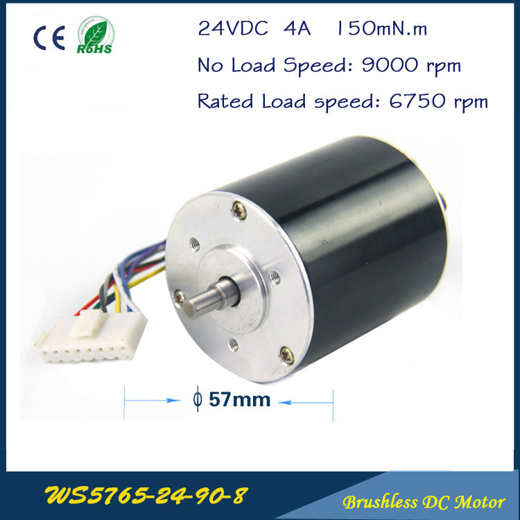 9000rpm  105W  24V 5.5A  57mm * 65mm 3 phase Hall Brushless DC Micro Motor  High Performance DC Motor for  Fan air pump gear box cnc dc spindle motor 500w 24v 0 629nm air cooling er11 brushless for diy pcb drilling new 1 year warranty free technical support