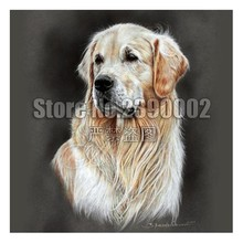 5D DIY Diamond Painting Dog Posters Diamond Embroidery Cross Stitch Golden Retrievers Animal Needlework Home Decorative mosaic(China)