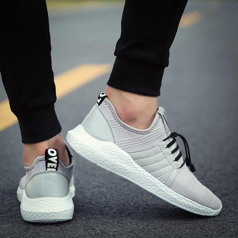 Hot Sale Walking Shoes for Men 2017 Light Knit Men Running Sport Chaussures Shoes New Fly Weave Athletic Shoes Breathable Flat