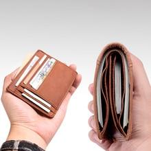 Cobbler Legend Thin Genuine Leather Card Wallet Men Bank Purse New Coin Bag Mini Wallet Id Holder Women Travel Pocket Wallet цена