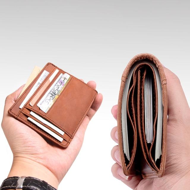 Cobbler Legend Thin Genuine Leather Card Wallet Men Bank Purse New Coin Bag Mini Wallet Id Holder Women Travel Pocket Wallet
