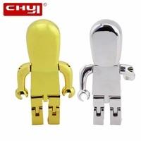 CHYI Nieuwe Cool Metal Robot USB Flash Drive Geheugenstick 4 GB 8 GB 16 GB 32 GB 64 GB Pendrive Persoonlijkheid Pen Drive U Disk Voor Gift