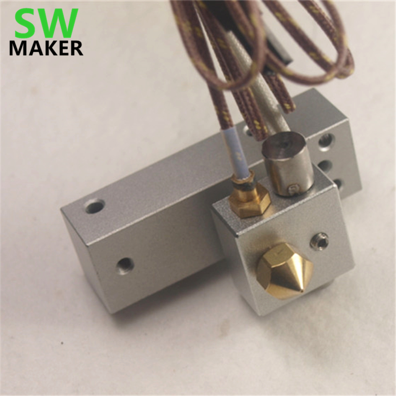 3D printer spare parts Replicator 2 Hot End Assembly w/ Stranded Thermocouple Replicator 2 Bar Mount Assembly PTFE tube inside u type pump for roland sp xc vp rs printer spare parts