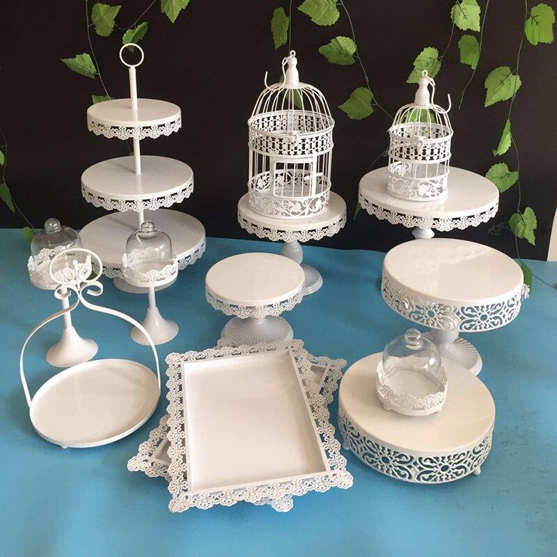 15pcs Gold Wedding Dessert Tray Cake Stand Cupcake Pan