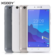 "XGODY D16 Smartphone 5.5"" 1GB RAM 8GB ROM Quad Core Android 6.0 4000mAh 8.0MP Dual SIM Telefone Celular 3G Touch Android Phones"