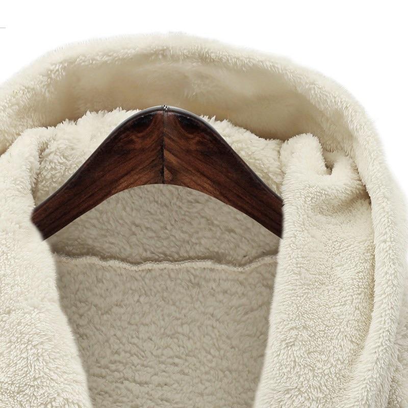 noir Longues Top marron Fourrure 2018 Capuche Manteaux White Survêtement Surdimensionné Chaud Hiver En Femmes Vestes Manches Hoodies Fausse Automne À Coat Cardigans q1vRwOO