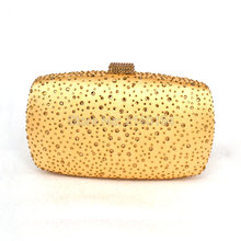 Gold abendtasche clutch kristall diamant günstige kupplungen frauen kette handtaschen parteigeldbeutel umhängetasche 11