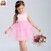 Kids Baby Floral Occasion Party Princess Prom Pageant Wedding Flower Girls Dress Pink Girl Dress Ball