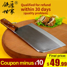 Chopping knife Stainless steel handmade forged chef professional slicing knives chopping bone fish meat ножи
