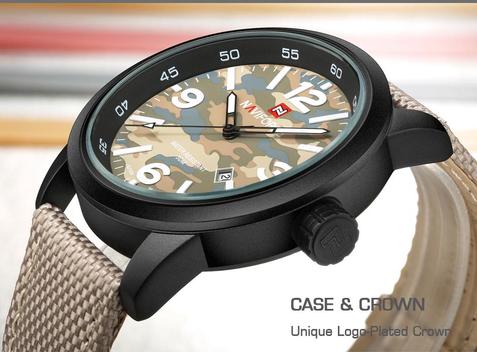2017 Nouveau NAVIFORCE Hommes Quartz Sport Militaire Montres Hommes De Luxe de Marque De Mode Casual Montre-Bracelet Relogio Masculino Homme Horloge 7