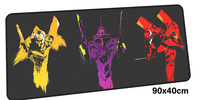 NEON GENESIS EVANGELION Mousepad Gamer 900x400X3MM Gaming Mouse Pad Large Notebook Pc Accessories Laptop Padmouse Ergonomic