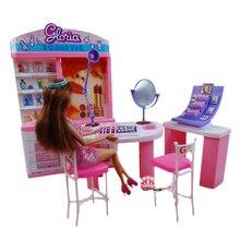 Косметический центр мебель игровой набор зеркало для макияжа+ Кисть для макияжа+ тени для век+ аксессуары для Барби 1/6 для куклы монстра