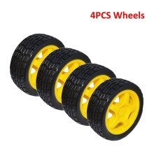 Free shipping!  Rubber wheel / robot / car motor / tire wheel smart car /car wheel(4 pieces /LOT)