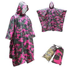 Travel Kits Waterproof Multifunctional Raincoat 3 in 1 Outdoor tools Mat Poncho Cover Tents Awning Camping Hiking Equipment
