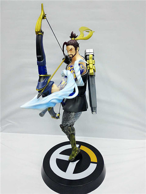 Huong Game Figure 35CM Hanzo PVC Action Figure Collectible Model Toys Doll Gift all characters tracer reaper widowmaker action figure ow game keychain pendant key accessories ltx1