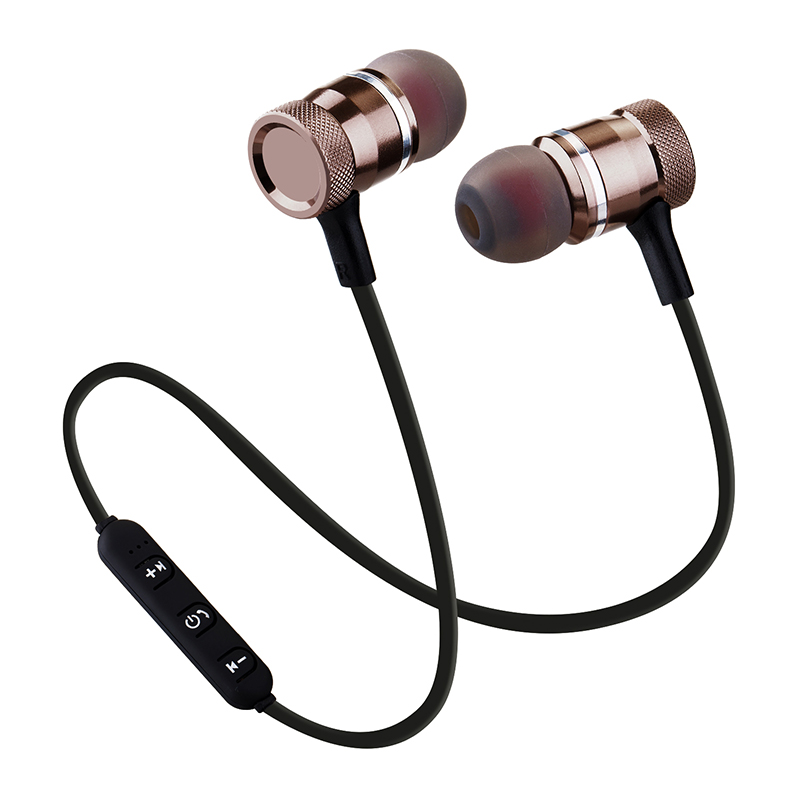 SkySmile Bluetooth Wireless Headphone Sport Running Stereo Magnet Earbuds With Microphone Earphone Headset For iPhone 2018