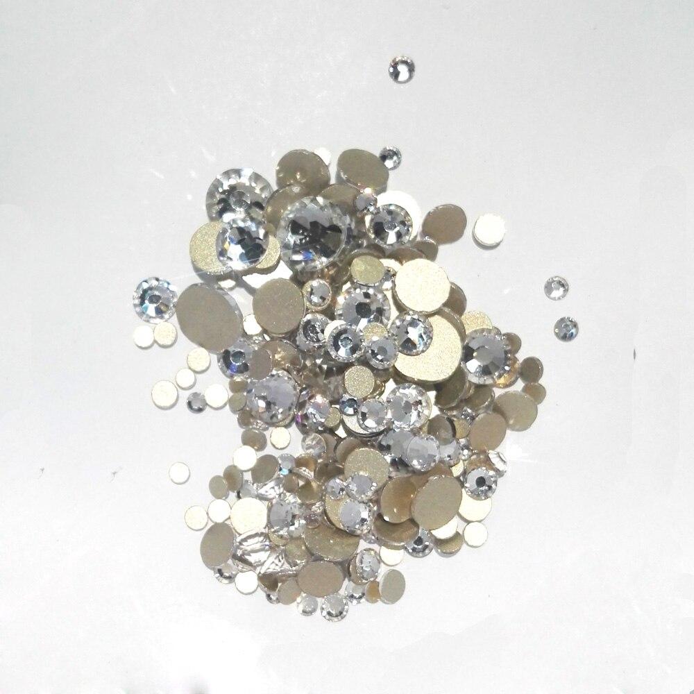 YanRuo vegyes méretek Lapos hátsó körömlakk kristály ragasztó - Köröm művészet - Fénykép 2