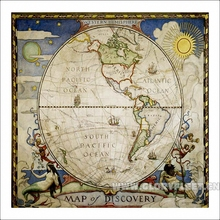 large hd western hemisphere world map classrooms home decoration detailed antique poster wall chart cotton cloth