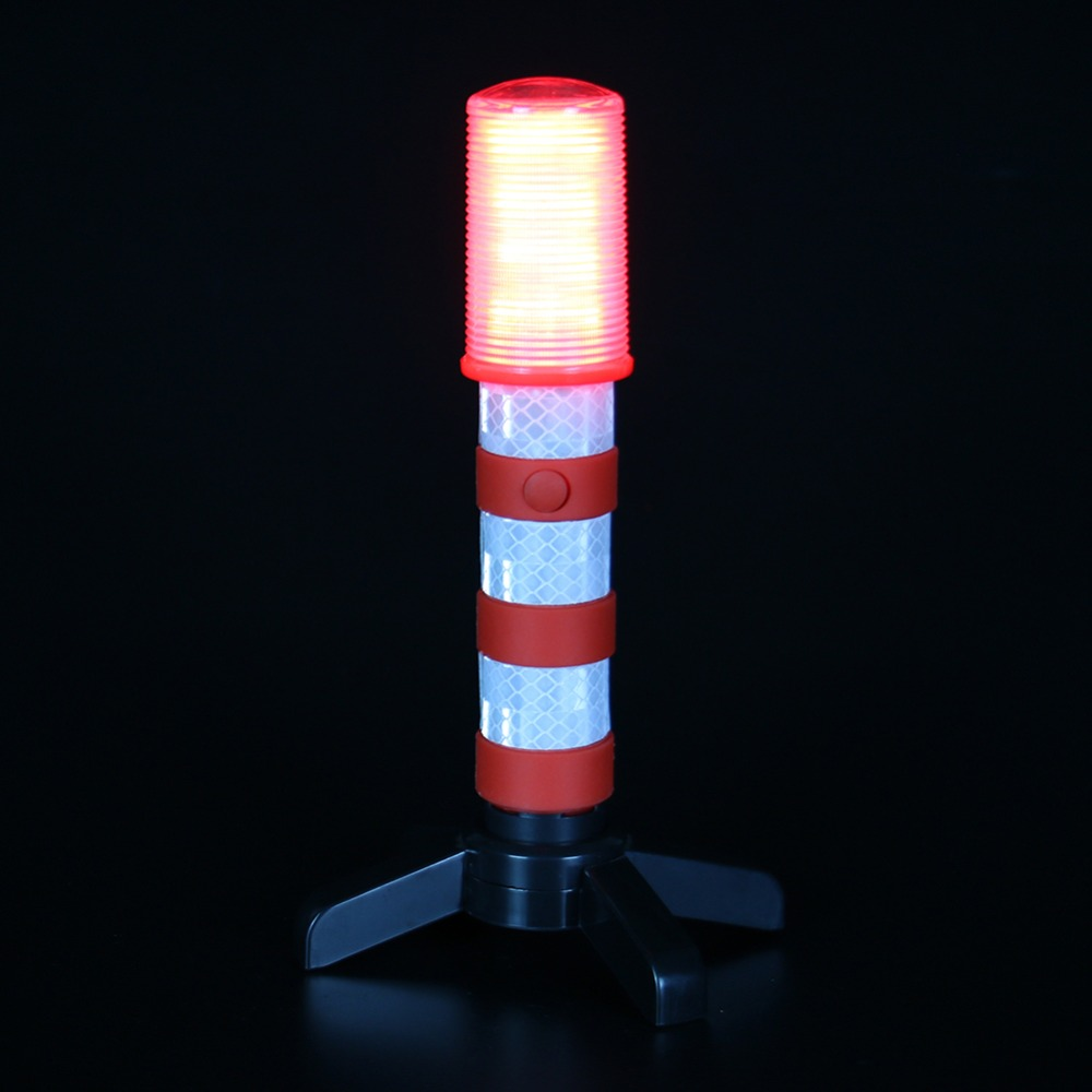 3 Color  Multi-functional Traffic Warning Light Baton Car Emergency Warning Light Stop HS-1220 Emergency LED