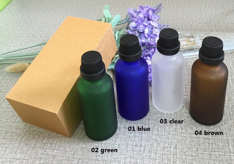 4pcs 50ml High-grade frosted essential oil bottle with wooden box packing black cap glass bottle,lotion cosmetics powder jar cosmetics 50g bottle chinese herb ligusticum chuanxiong extract essential base oil organic cold pressed