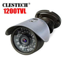 Metal Mini camera Cmos 1200tvl HD CCTV Color Small 960h ahdl vidicon Infrared 36LED NightVision 30m Ircut Outdor waterproof IP66