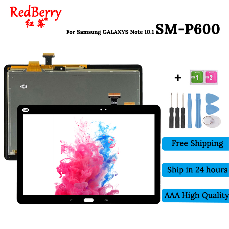 10.1 Tablet P605 P600 LCD For Samsung Galaxy Note 10.1 SM-P600 P605 P600 Display Touch Screen Digitizer Glass Assembly new 10 1 lcd combo for samsung galaxy note 10 1 sm p600 p605 p600 lcd display touch screen digitizer glass assembly with frame