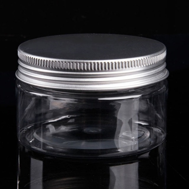 1pc Cosmetic Travel Empty Bottle Jar Round Aluminum Cover Lid Plastic Lip Balm Make-up Bottling Box Easy To Portable