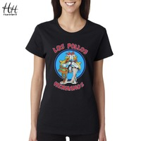HanHent Breaking Bad Los Pollos Hermanos T Shirts Chicken Brothers Women T Shirts Short Sleeve