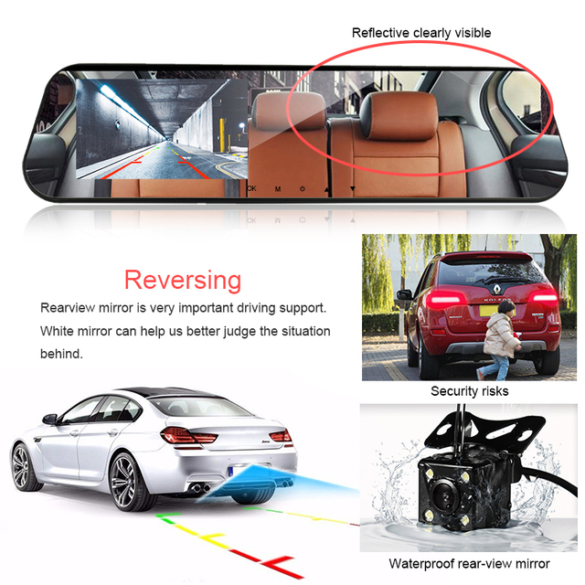 dash cam mirror car dvr mirror dual dash camera dual cameras mirror dashcam full hd dashcamera in car video camera full hd dvrs