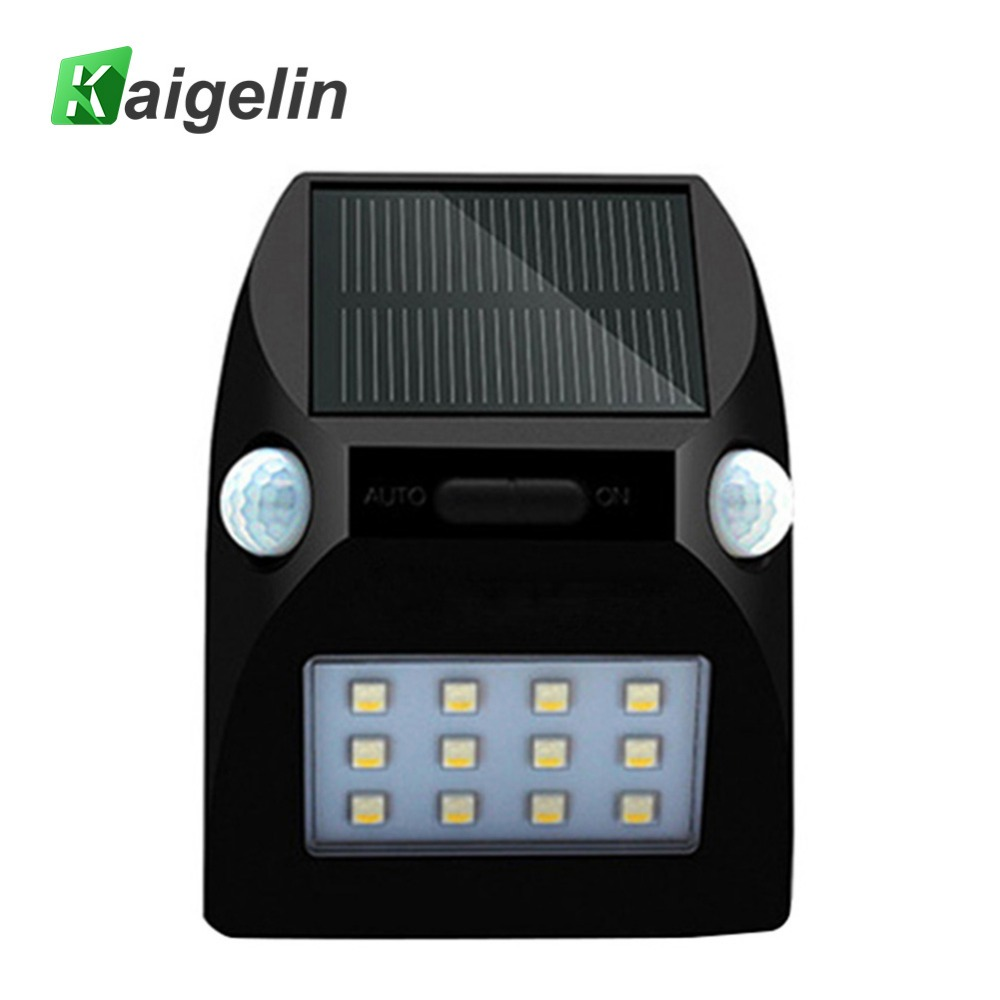 Kaigelin 12 RGBW LEDs Solar LED Spot Light PIR Motion Sensor LED Floodlight Waterproof LED Solar Lamp Outdoor Garden Lighting 2 pcs 30w 64 led solar pir motion sensor led flood light 3600lm solar lamp ip65 solar led floodlight for outdoor garden lighting