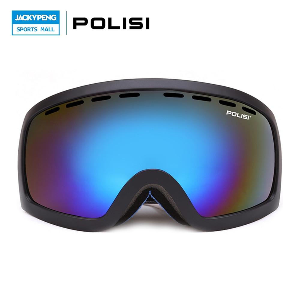 Prix pour POLISI D'hiver Ski Snowboard Lunettes Coupe-Vent Neige Ski Lunettes Hiver En Plein Air UV Protection Lunettes De Motocross Lunettes