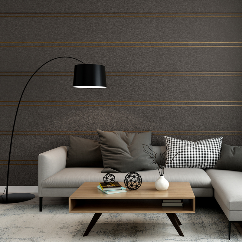 Luxury 3D Modern Minimalistic Stripe Wallpaper 3D Living Room Bedroom TV Wallpaper Thick wallpaper roll Brown Silver Grey book knowledge power channel creative 3d large mural wallpaper 3d bedroom living room tv backdrop painting wallpaper