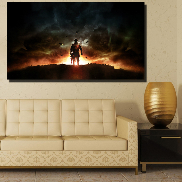 QKART Game Explosion digital Illusions Wall Pictures for Living Room ...