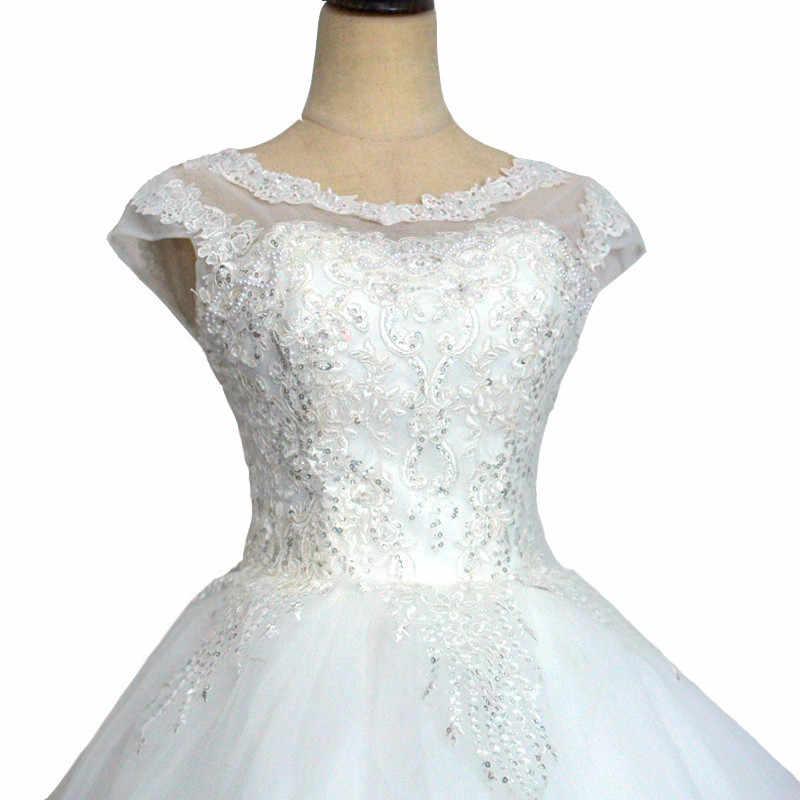 Свадебные платья с вышивкой и кружевной каймой, качественные свадебные платья, 2018, большие размеры, свадебное платье, настоящая фотография