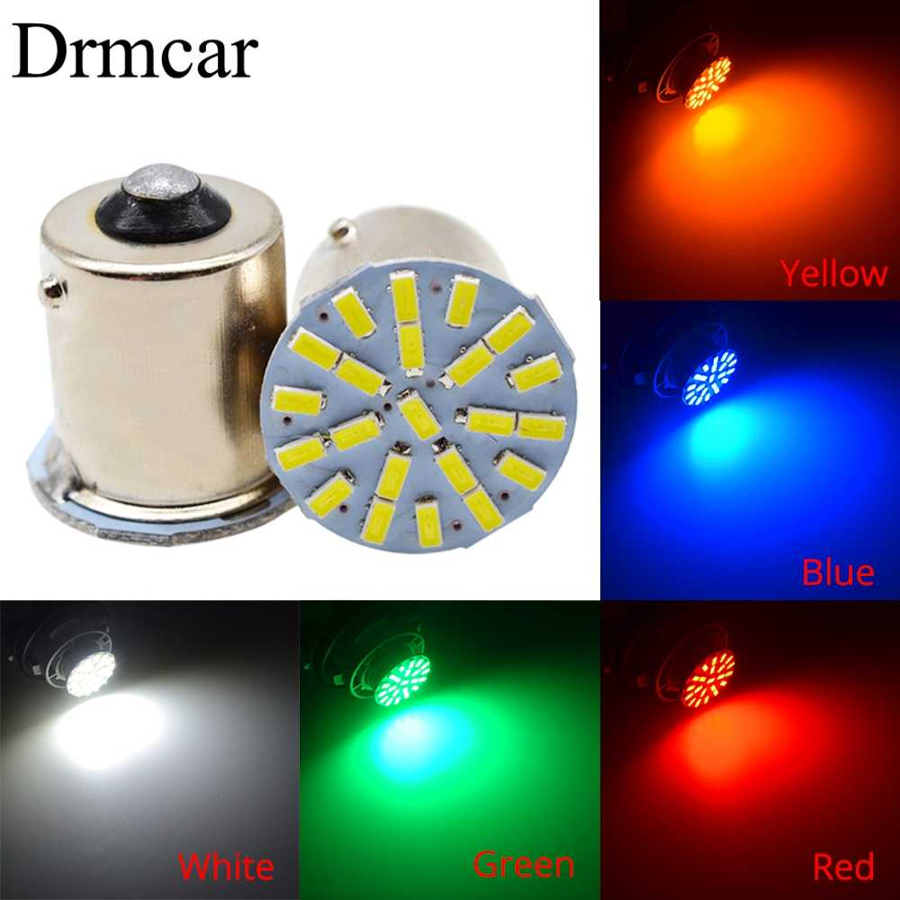 1157 BAY15D 1156 BA15S 3014 22SMD Car Led P21W AUTO LED Brake Auto Front Parking Brake Lamp Backup Wedge Lamp Tail Bulb DC 12V