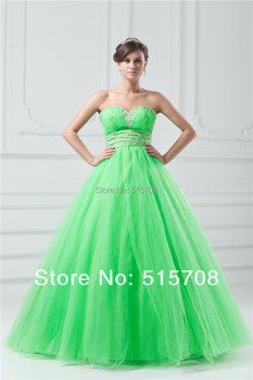 Custom Make Ball Gown Sweetheart Beads Formal Prom Gowns Floor Length Quinceanera Dresses Pageant Gowns Free Jacket Cheap