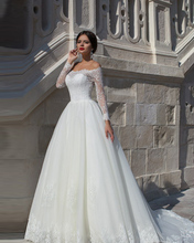 Vestido de Noiva Manga Longa Long Sleeve Lace Wedding Dresses Sexy Princess Bride 2015 Casamento
